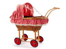An old vintage childrens doll stroller Stock Photography
