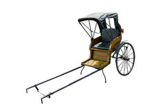 Free Old Vintage Chinese Hand Pulled Rickshaw Isolated On White Background Royalty Free Stock Image - 95820186