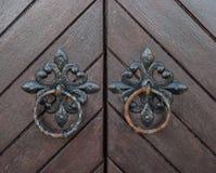 Old vintage church doors detail Stock Photo