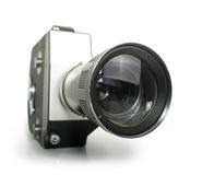 Old vintage cine-camera Stock Photo