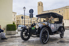 Old vintage classic car buik. 1930 on the road lecce Stock Image