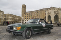 Old vintage classic car mercedens 280 sl lecce Stock Images