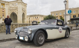 Old vintage classic spider austin-healey 3000 Stock Image