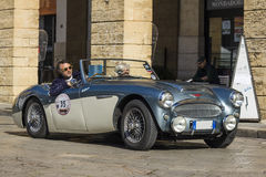 Old vintage classic spider austin-healey 3000 Stock Images