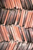 Old vintage clay roof tiles Stock Image