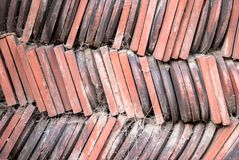 Old vintage clay roof tiles Royalty Free Stock Image