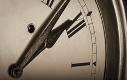 Old vintage clock face Stock Images