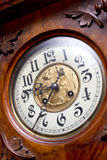 Old vintage clock. Hand made old vintage clock stock images