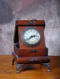 Old Vintage Clock On Old Wood Stock Photos