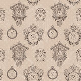 Old vintage clock seamless pattern Royalty Free Stock Photography