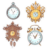 Old vintage clock set Stock Photos