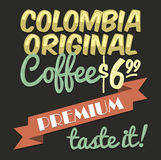 Old vintage coffee poster Royalty Free Stock Images