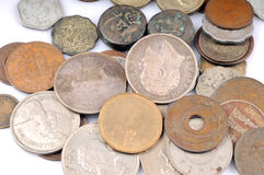 Old vintage coins Royalty Free Stock Photo