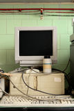 Old vintage computer in laboratory Stock Photography