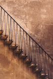 Old Vintage Concrete Staircase, Side View Royalty Free Stock Photo