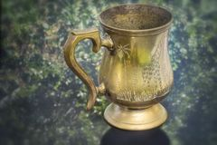 Old Vintage Cooper Mug Royalty Free Stock Photography
