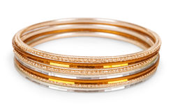 Old vintage copper bracelet Royalty Free Stock Photos