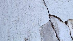 Old vintage crack wall. Old building stock footage