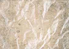 Old vintage crumpled newspaper paper texture background. Old crumpled stained grunge recycled newspaper paper texture background. Blurred vintage newspaper royalty free stock images