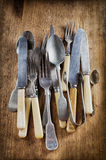Old vintage cutlery Royalty Free Stock Image