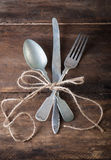 Old vintage cutlery Royalty Free Stock Photos
