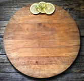 Old vintage cutting board abstract food background royalty free stock image