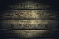 Old vintage dark wood planks obsolete background Royalty Free Stock Images