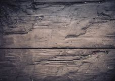 Old vintage dark wood rough textured board obsolete background blue toned Royalty Free Stock Images
