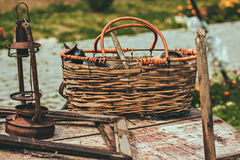 Old vintage details and things. The stylized photo. Retro agriculture. Royalty Free Stock Photo