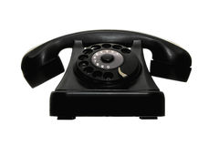 Old vintage dial telephone black Royalty Free Stock Photo