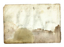 Old vintage dirty torn blank page book on a white Royalty Free Stock Photo
