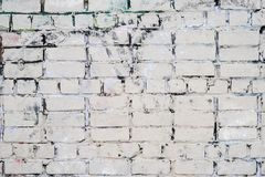 Old vintage dirty white brick wall Stock Images