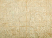 Old vintage discolored dirty graph paper. Royalty Free Stock Photo