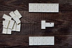 Old vintage dominoes, game Stock Photography