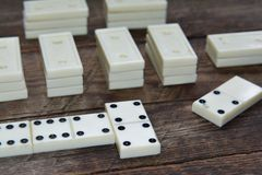 Old vintage dominoes, game Royalty Free Stock Photo