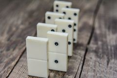 Old vintage dominoes Royalty Free Stock Photography