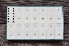 Old vintage dominoes Royalty Free Stock Image