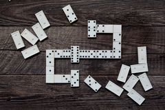 Old vintage dominoes Royalty Free Stock Photo