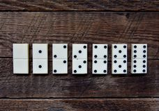 Old vintage dominoes Stock Photography