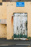 Old vintage door in France Royalty Free Stock Photography