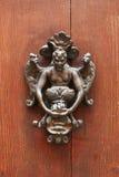Old vintage door knocker stock photo