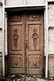 Old vintage door of old mansion stock images