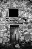 Old, vintage doors to the dark. royalty free stock image