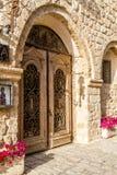 Old Vintage double door in Old Jaffa, Israel Stock Image