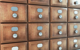 Old vintage drawer cabinet Stock Photography