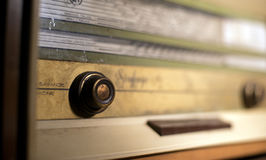 Old vintage dusty radio. Image of an old vintage dusty radio,shallow dof Stock Photos