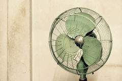 Old vintage electric fan Stock Photo