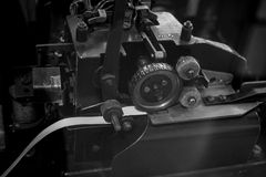 The old and vintage electrical telegraph, Morse system Royalty Free Stock Photography