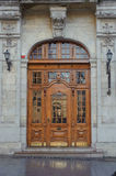 Old vintage entrance door in Lvov Stock Photos