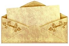 Old vintage envelope. Isolated on a white background royalty free illustration